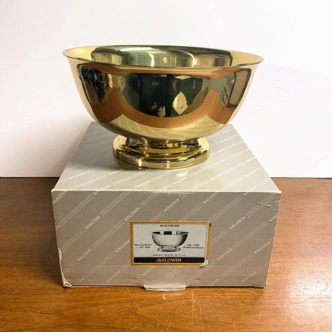 "Vintage Baldwin Brass Benchmark Revere Bowl 10"" by OverTheYearsFinds"