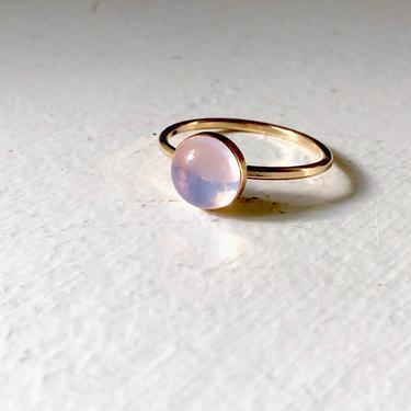 Crystal Ball Ring - Lavender Moon Quartz Goldfilled Ring by RachelPfefferDesigns
