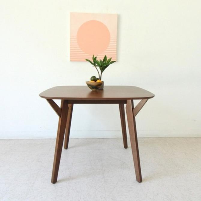 Walnut Rounded Square Dining Table