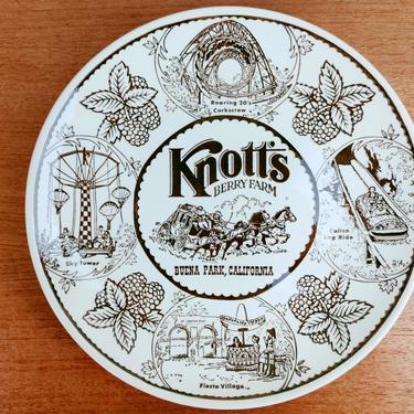 Vintage Knott's Berry Farm Decorative Souvenir Plate | Buena Park CA | Rides Fiesta Village Berries Chicken Dinner | 1970s by TheFeatheredCurator