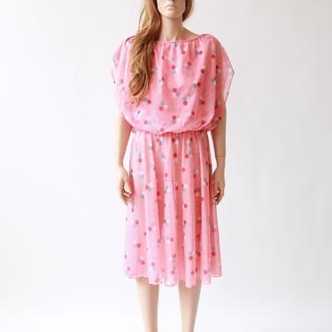 70s/80s bazooka bubble gum dress | pink dress | medium large by VINandMUM