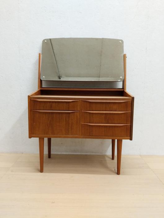 Vintage Danish Modern Teak Vanity by FarOutFindsNYC