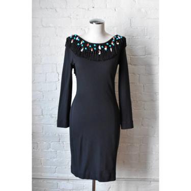 1990's | Isabelle Allard Paris | Vintage Seashell Beaded Fringe  Dress by LadyofLizard