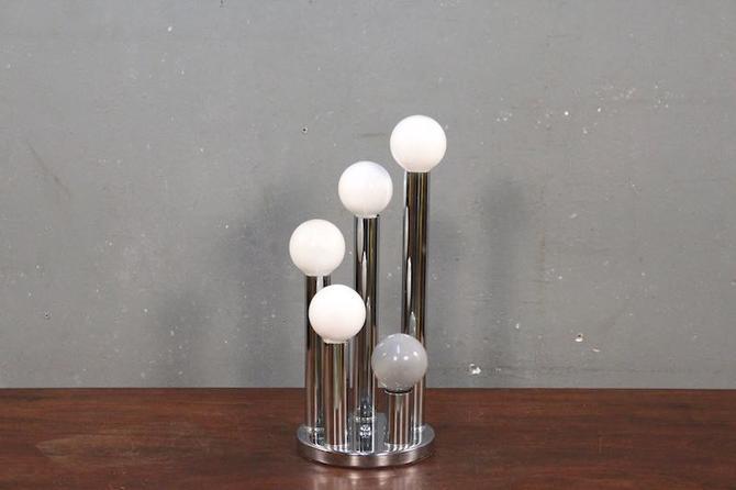 Petite Mod Chrome Cascading Orbs Table Lamp