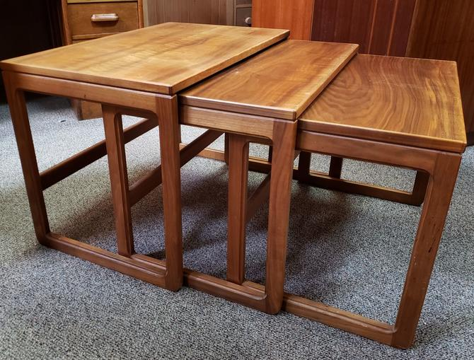 Item #MA69 Danish Modern Teak Nesting Tables c.1960