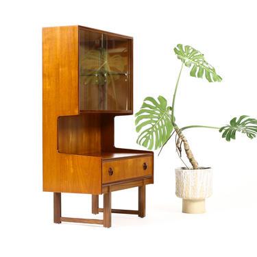 Danish Modern / Mid Century Teak Display / Cocktail Cabinet / Bar — Sliding Glass Doors by atomicthreshold