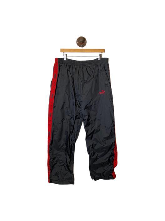 (L) Puma Black/Red Windbreaker Track Pants 022421