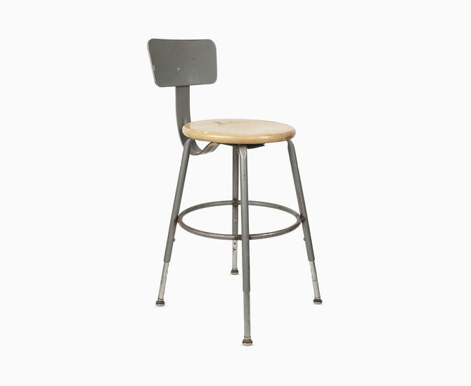 Sensational Industrial Stool Metal Chair Artist Studio Adjustable Caraccident5 Cool Chair Designs And Ideas Caraccident5Info