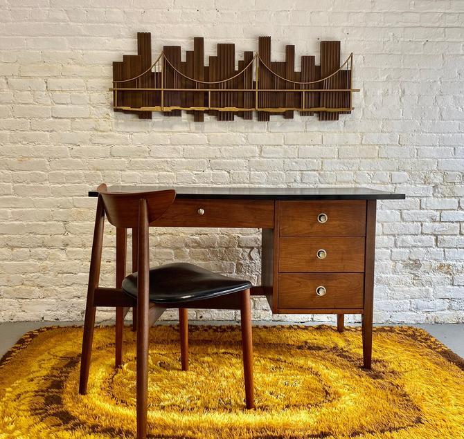 Mid Century MODERN Ebonized WALNUT DESK by Stanley Furniture by CIRCA60