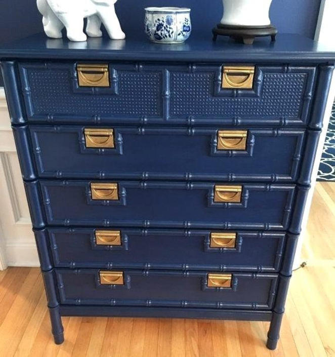 """Faux Bamboo Chest of drawers Navy """"customize """" picture 3 by Dianemarieshome"""