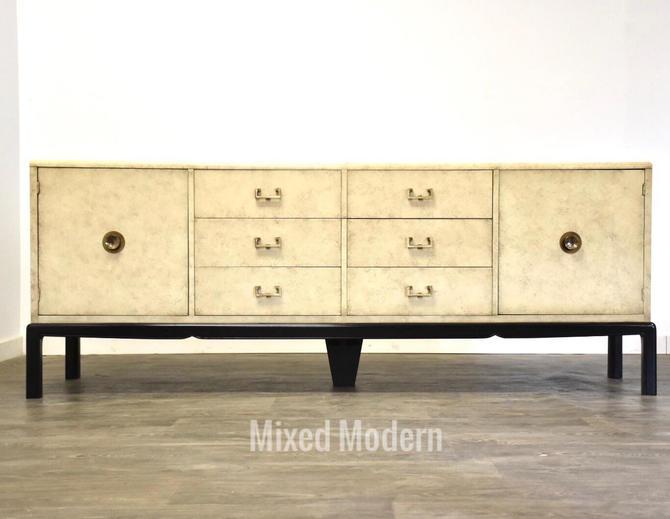 Cream & Brass Modern Credenza by mixedmodern1