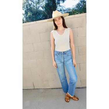USA Levi's 501xx Jeans // vintage 501 faded Levis medium light wash Levi 80s hippy 30 x 33 // 26 by FenixVintage