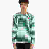 Red Heart Striped Long Sleeve