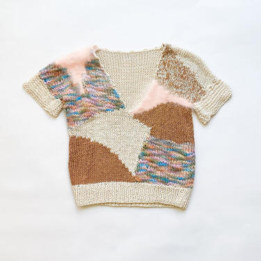 1980s Angora Collage Knit Vest by waywardcollection