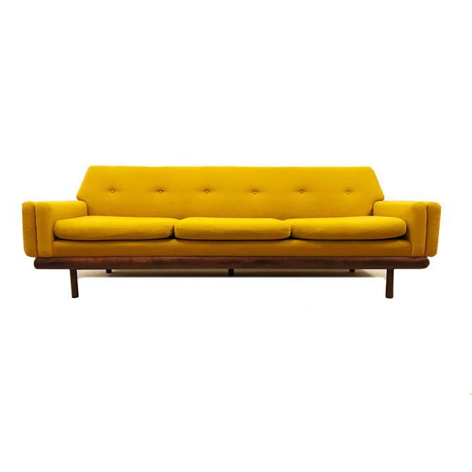 Vintage MCM Sofa In Mustard Yellow by minthome