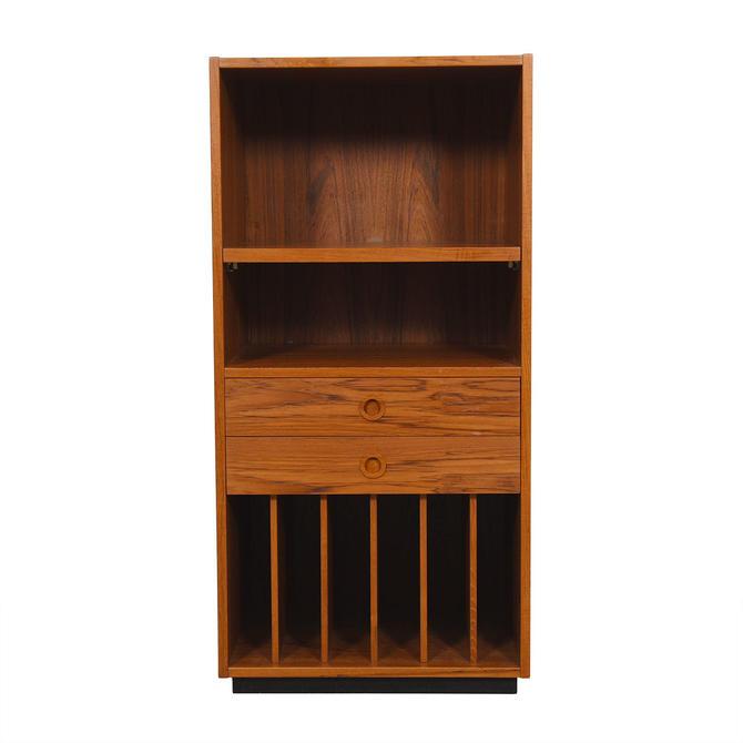 Danish Teak Compact Media / Record Cabinet