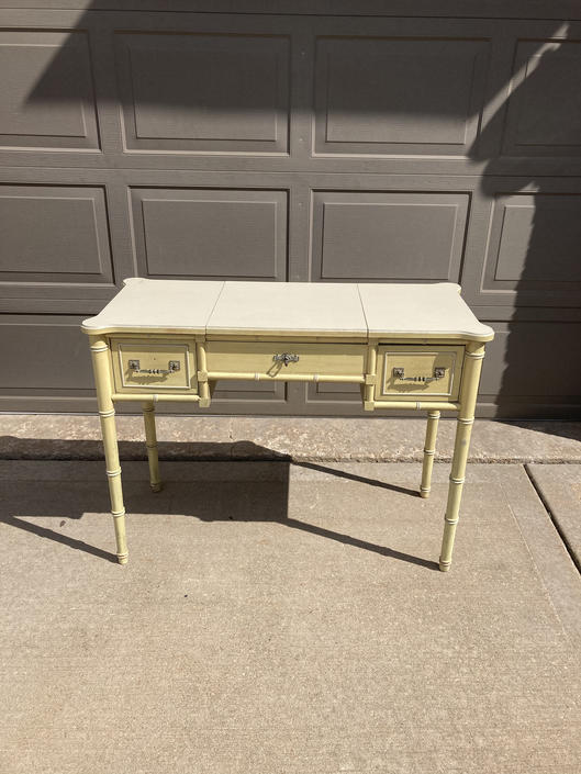 Desk / makeup table faux bamboo customize included by Dianemarieshome