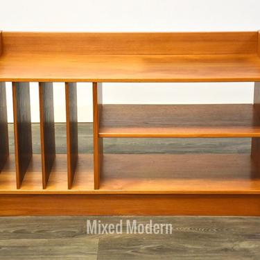 Teak Record Cabinet TV Console by mixedmodern1