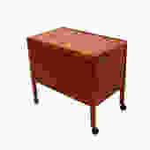Versatile Danish Modern Teak Bar Cart