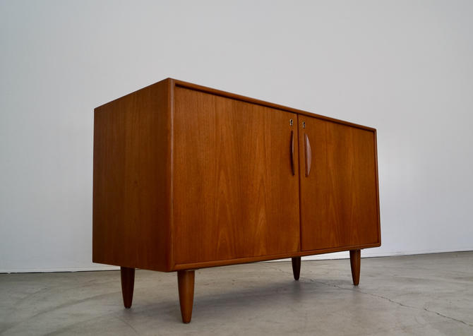 Gorgeous 1950's Danish Modern Credenza Sideboard Cabinet in Teak - Professionally Refinished! by CyclicFurniture