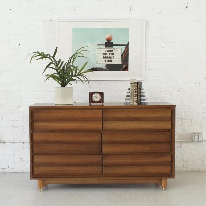 Six Drawer Sleek Solid Wood Dresser