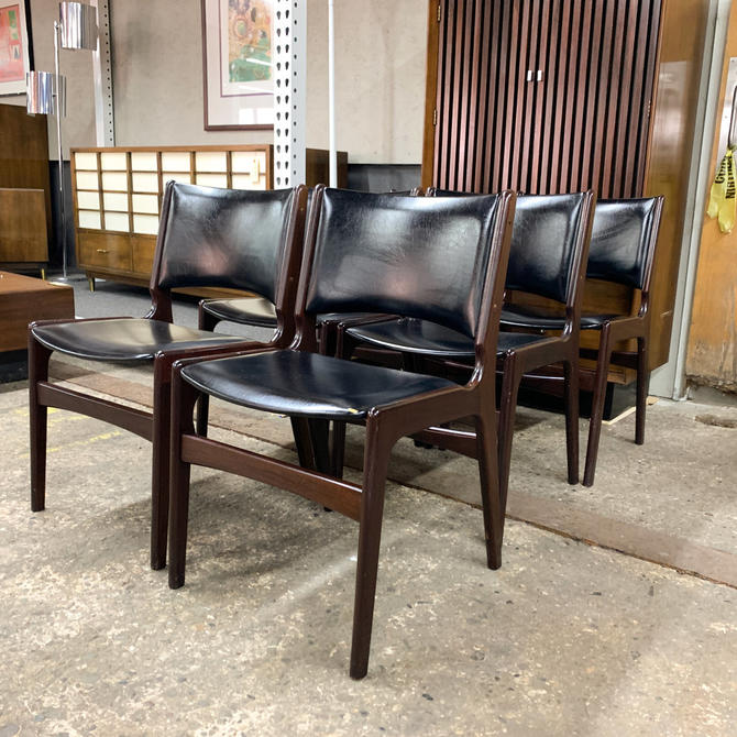 Set of 6 rosewood danish dining chairs