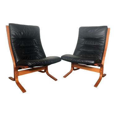 Pair Of Ingmar Relling Siesta Chairs High Back By Ekornes by RetroPassion21