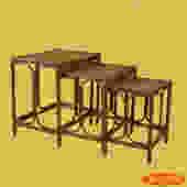 Burnt Bamboo Nesting Tables