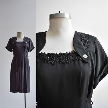 1940s Black Lace Cocktail Dress by milkandice