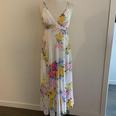 Pretty floral Eve Stillman nylon nightgown-Size XS by MartinMercantile