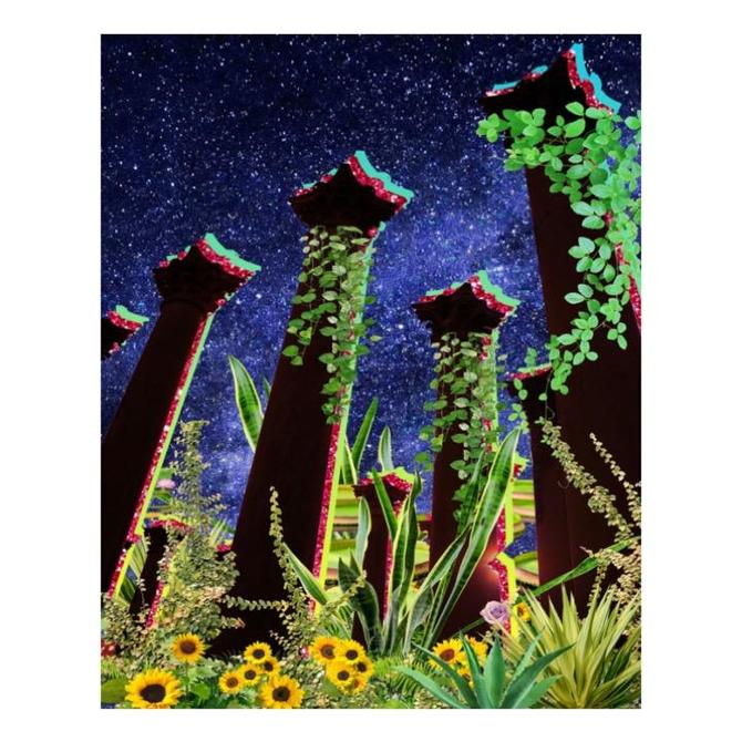 Pillar Plants Print