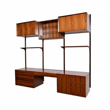 Danish Modern Rosewood Bookcase Wall Unit Floating Cabinet Entertainment Unit by Cado by HearthsideHome