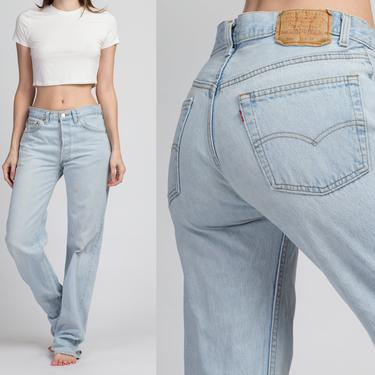 Vintage Levi's 501 Light Wash Jeans - 32x36 | Made In USA 80s 90s Unisex Denim Straight Leg High Waist Boyfriend Jeans by FlyingAppleVintage