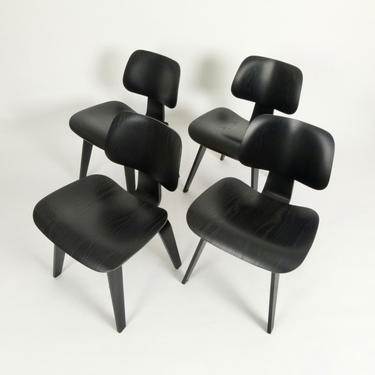 Set of 4 Eames DCW Chairs