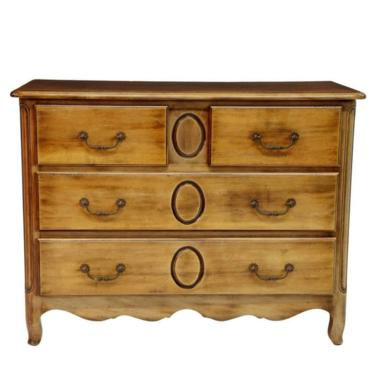 French Provincial Fruitwood Commode Chest Of Drawers by LynxHollowAntiques