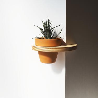 Pot Hanging Corner Shelf - 4 inch by HerbsFurniture