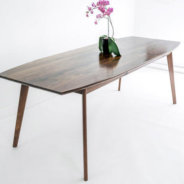 Mid Century Modern Dining Table, Contemporary Dining Table, Black Walnut Table Bohemian Decor mad men by moderncre8ve