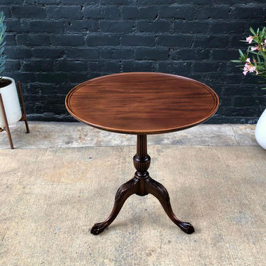 Antique Mahogany End / Side Table, c.1940's by VintageSupplyLA