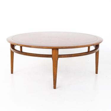 Lane Mid Century Round Oak and Walnut Coffee Table - mcm by ModernHill