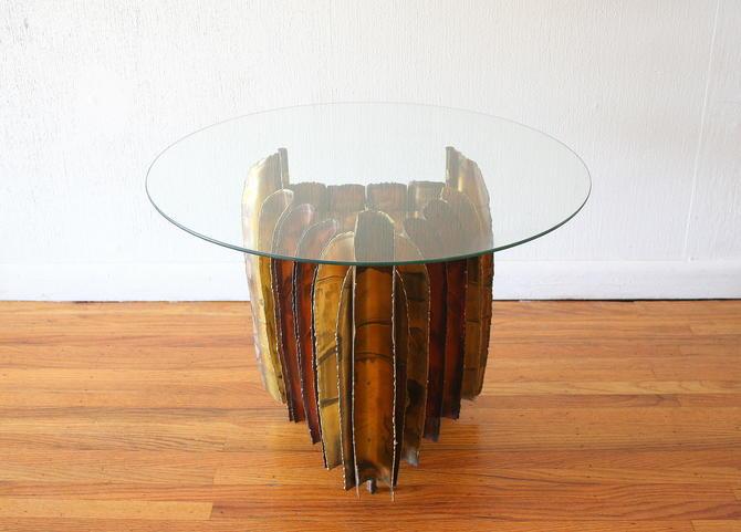 Mid Century Modern Brutalist Side End Table