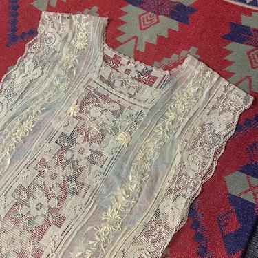 Exquisite 1920s Embroidered Filet Lace Dress Antique 34 Bust Vintage by AmalgamatedShop