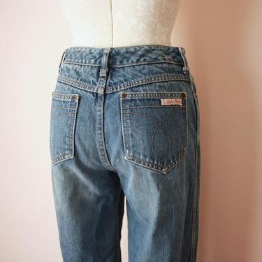 90s Distressed Calvin Klein Medium Wash Straight Leg Jeans by NoSurrenderVintage