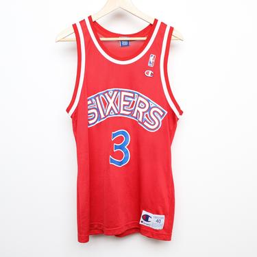 vintage ALLEN IVERSON Philadelphia 76ers size medium late 90s CHAMPION brand sixers nba jersey shirt by CairoVintage