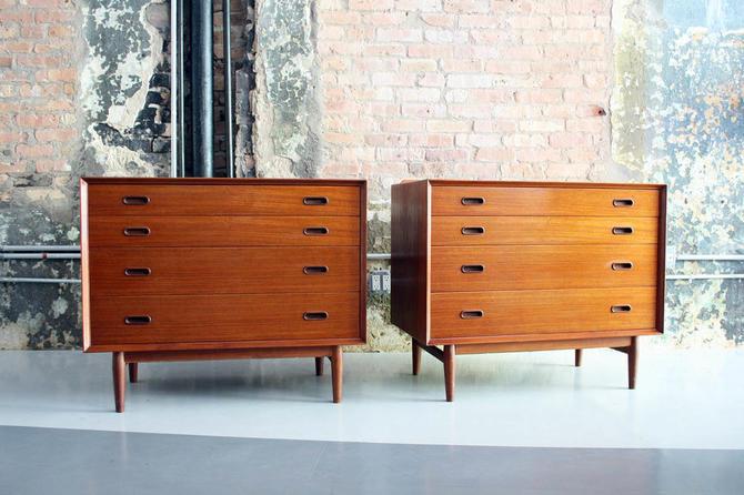 Pair of Teak Cabinets / Dressers by Arne Vodder for Sibast Denmark