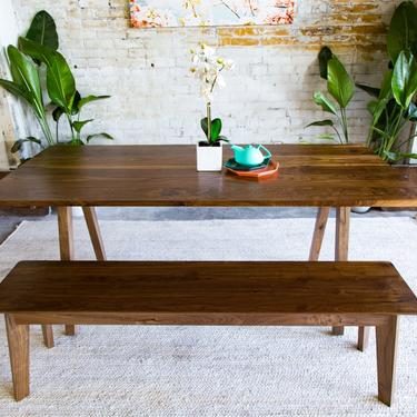 "Solid Walnut Dining Table ""The Sputnik"" by moderncre8ve"