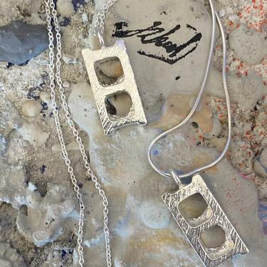 Sterling Silver Brick Necklace charm by MadeByRheal