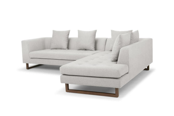 """""""Charles"""" Sectional (Right) in Stone"""