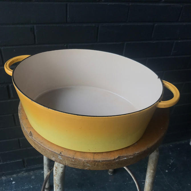 LE Creuset 31 Soleil Yellow Oval Roasting Pot NO LID by BrainWashington
