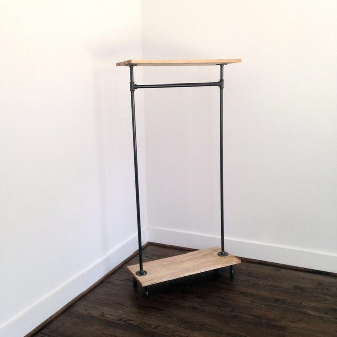 Fitler Square Garment Rack - Reclaimed Wood & Pipe - Reclaimed Wood Garment Rack - Pipe Garment Rack by arcandtimber