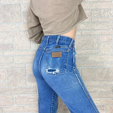 Wrangler Distressed Vintage Western Jeans / Size 28 by NoteworthyGarments